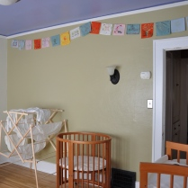 Prayer flags for Bean (room in progress)