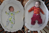 October 10 to February 10: Almost time to convert the bassinet to the crib!