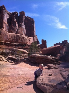 Climbing on sandstone in almost 70 degree weather!