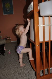 Climbing the changing table