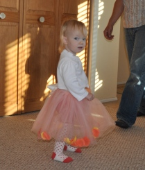 Ready for her friends' birthday party