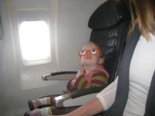 Fun glasses for anytime, and especially for airplane rides.
