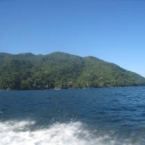 View of El Jardin from the panga (water taxi), headed to PV