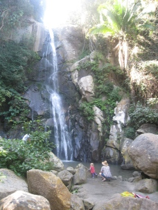 The town waterfall
