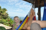 Two hammocks make a nice spot for Mama and Papa, and fun obstacles for Mia
