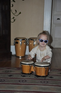 Beating on the drums