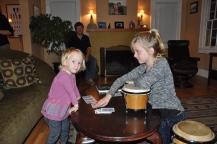 Big M teaching Little M card tricks