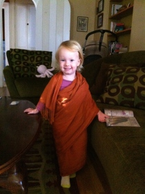 "She wanted to wear a sari after reading a library book ""Mama's Saris"""