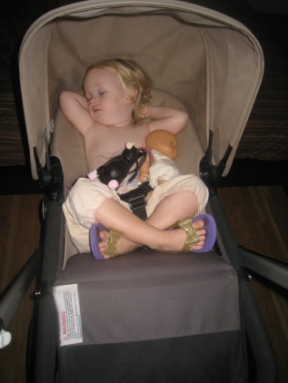 The stroller is still a sleeping machine!