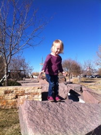 Who needs a playground when you can climb rocks?