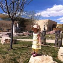 Rock climbing at the museum