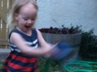 Watering the garden is FUN!