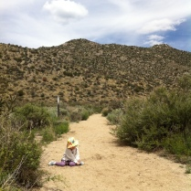 Playing in the arroyo