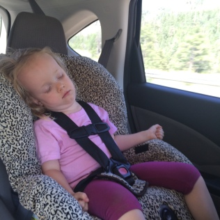 Asleep almost immediately when we got in the car
