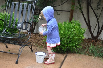 Playing in the rain (ok, drizzle, really)