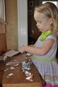 Focused on her task