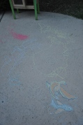 Chalk art by Papa and Mia