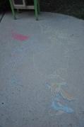 Chalk art by Papa and Mia
