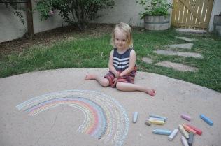 Chalk art with Papa
