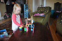 """Building the """"garden"""" with magnetic blocks"""