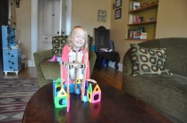"""Happy with her construction project: a """"house and garden"""""""