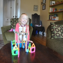 "Happy with her construction project: a ""house and garden"""
