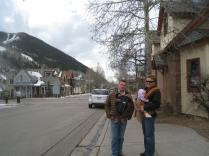 Dads with babies for lunch in Telluride